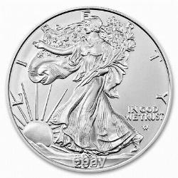 100 Silver 2021 American Eagle 1 oz. Fine. 999 US 1oz Type 2 Design Coins
