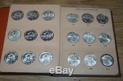 1986-2019 American Silver Eagle Coin Set 34 Coins Dansco Album See Pics