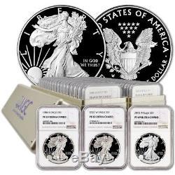 1986-2019 Complete Silver Eagle Set NGC PF69 UCAM