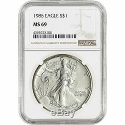 1986 2020 American Silver Eagle 35 Coin Set NGC MS69