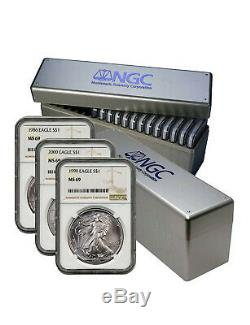 1986 2020 Complete 35 Coin American Silver Eagle Set Ngc Ms 69