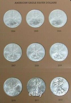 1986 2021 AMERICAN 1oz SILVER EAGLES COMPLETE SET 36 COINS