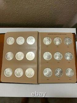 1986-2021 Silver Eagle Set Complete 36 Coins In Dansco Album