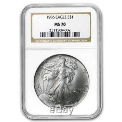 1986 Silver American Eagle MS-70 NGC (Registry Set) SKU #9700
