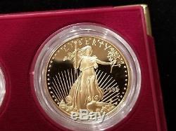 1995-W American Eagle 10th Anniversary Gold & Silver Proof Set (#btc)