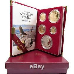 1995 W American Eagle 10th Anniversary Gold & Silver Proof Set with box & COA
