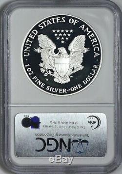 1995 W American Silver Eagle NGC PR69 Ultra Cameo Blast White and No Spots