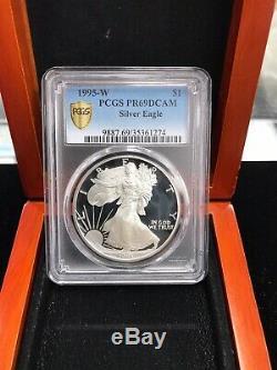 1995 W American Silver Eagle PCGS PR69 Deep Cameo Blast White and No Spots