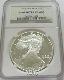 1995-W Proof Silver American Eagle NGC PF69 Lowest Priced