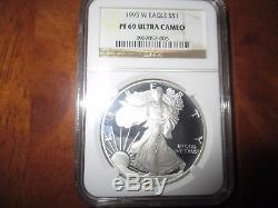 1995-W Proof Silver American Eagle PF-69 UCAM NGC