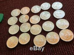 1996 Silver Eagles Roll of 20 Unsearched BU GEM Key Date