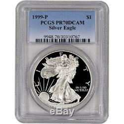 1999-P American Silver Eagle Proof PCGS PR70 DCAM