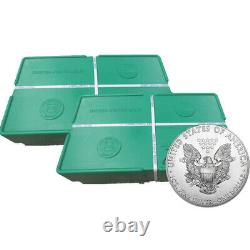 1,000 Silver 2020 American Eagle 1oz Coins in 2 US 500 Coin Sealed Monster Boxes