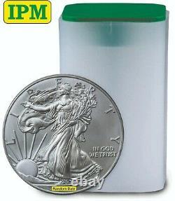 1 oz American Silver Eagles $1 BU Coins (Random Year) Lot, Tube, Roll of 20