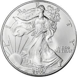 2002 American Silver Eagle 1 oz $1 BU Sealed 500 Coin Monster Box