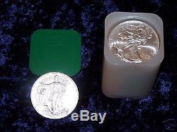2004 American Eagle 1oz Silver Bullion coins Roll of 20 UNC