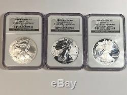 2006 W Eagle 20th Anniversary Silver Dollar Set Ngc Pf69 Ucam Pf69 Ms69
