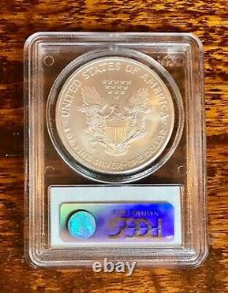 2008-W PCGS MS70 Burnished Reverse of 2007 $1 Silver American Eagle