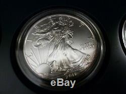 2011 - 25th Anniversary 5-Coin AMERICAN SILVER EAGLE Set with COA & OGP