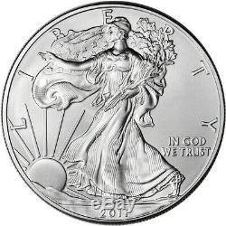 2011 American Silver Eagle (1 oz) $1 1 Roll Twenty 20 BU Coins in Mint Tube