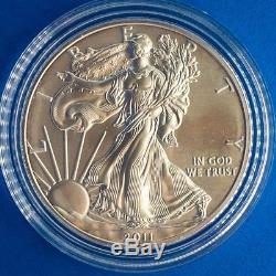 2011 Silver American Eagle 25th Anniversary 5 Coin Set (WithBox & CoA)