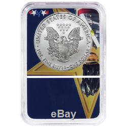 2016, 17, 18-W Burnished American Silver Eagle 3pc Set NGC MS70 West Point Core