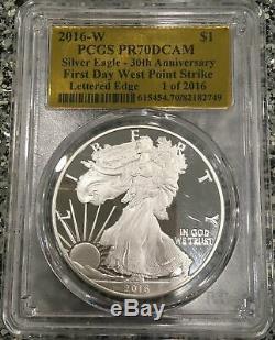 2016-W 1 oz American Silver Eagle PCGS PR70DCAM