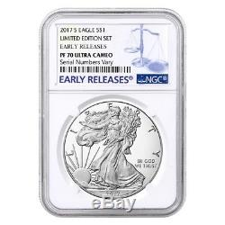 2017 S 1 oz Proof Silver American Eagle Limited Edition NGC PF 70 ER