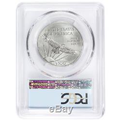 2018 $100 American Platinum Eagle PCGS MS70 FDOI Statue of Liberty Label