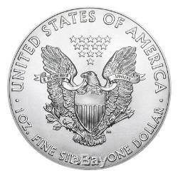 2018 $1 Silver American Eagle 1 oz. Brilliant Uncirculated Lot of 10