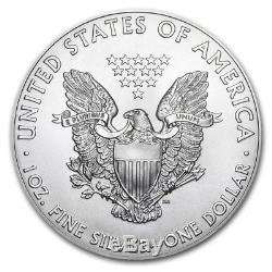 2018 1 oz Silver American Eagle BU (Lot of 100, Five Tubes/Rolls)