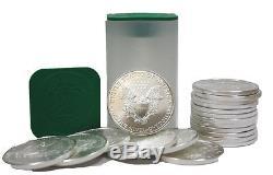 2018 Roll of 20 Silver American Eagle BU 1oz American Silver Eagles $1 Coins
