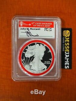 2018 S Proof Silver Eagle Pcgs Pr70 Dcam Bridge Mercanti First Day Of Issue Ana