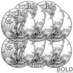 2018 Silver 1 oz American Eagle BU (10 Coins)