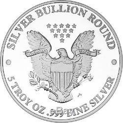 2018 Silver American Eagle Medallion by SilverTowne 5oz. 999 Silver (20pc)