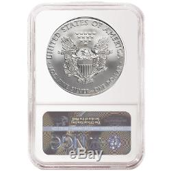 2019 $1 American Silver Eagle 3 pc. Set NGC MS70 FDI First Label Red White Blue