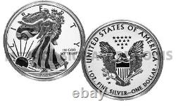 2019 Pride of Two (2) Nations US $1 American Silver Eagle ONLY West Point Mint
