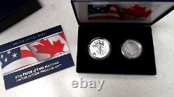 2019 Pride of Two Nations Set Enhanced Reverse PR 1oz Silver Eagle & Maple Leaf
