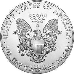 2019 Roll of 20 Silver American Eagle BU 1oz American Silver Eagles $1 Coins