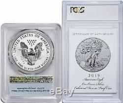 2019-S $1 Silver Eagle Enhanced Reverse Proof PR70 FS First Strike PCGS with COA