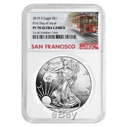 2019-S 1 oz Proof Silver American Eagle NGC PF 70 UCAM FDOI (SF Label)