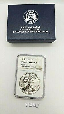2019-S American Eagle One Ounce Silver Enhanced Reverse Proof Coin NGC PF70
