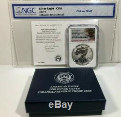 2019-S American Eagle One Ounce Silver Enhanced Reverse Proof Coin NGC PF70 FR