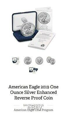 2019-S American Eagle One Ounce Silver Enhanced Reverse Proof Coin UNOPENED