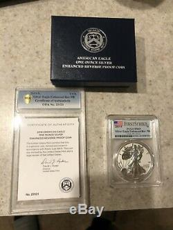 2019-S American Eagle One Ounce Silver Enhanced Reverse Proof PCGS FS PR69 withCOA