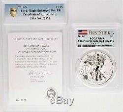 2019-S American Silver Eagle Enhanced Reverse Proof PCGS PR69 First Strike + COA