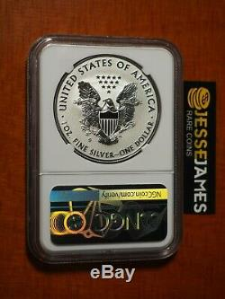 2019 S ENHANCED REVERSE PROOF SILVER EAGLE NGC PF70 TROLLEY LABEL With BOX AND COA