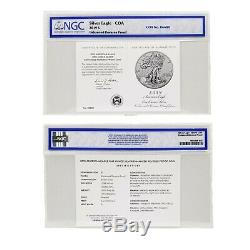 2019-S Enhanced Reverse Proof $1 American Silver Eagle NGC PF70 and COA #06680