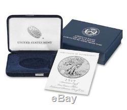 2019-S Enhanced Reverse Proof $1 Silver Eagle / COA # PCGS PR70 FDOI Flag Label