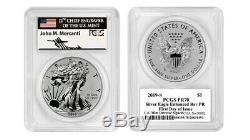 2019 S Enhanced Reverse Proof Silver Eagle Pcgs Pr70 Mercanti First Day #00002